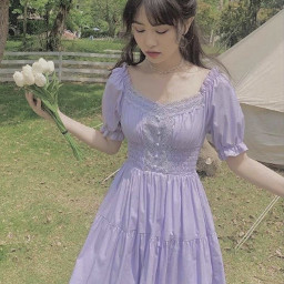 accrestart acc restart cottagecore lightcottagecore aesthetic purplecottagecore purple purpleaesthetic pastel prettygirl purpledress