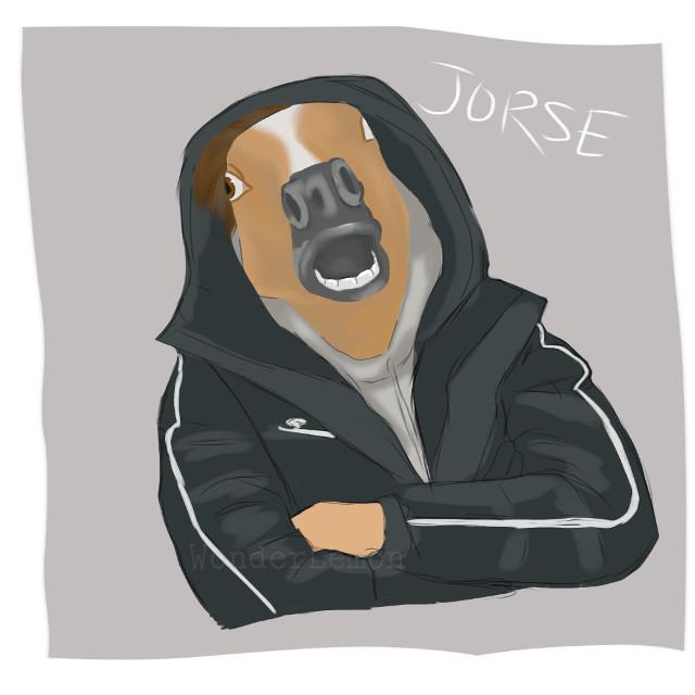 I drew jorse- (han jisung + horse) and i love it. #notaglist #woondering