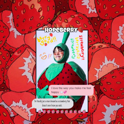 jhope bts kpop strawberry freetoedit