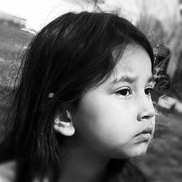 blackandwhite portrait neice ojibway