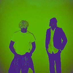 kencarson playboicarti vampire green blackandwhite 2guys 2 people rap hiphop rapper opium greenaesthetic freetoedit