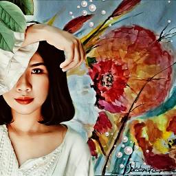 picsart multicolor amazing flowers girl beautifuledit myedit remixit remixed freetoedit