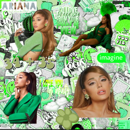 arianagrande green freetoedit