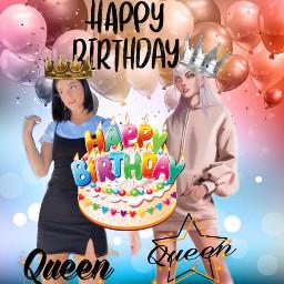 happybirthday bday charli charlidamelio evelynn evelynnkda kda queens freetoedit