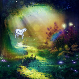 myedit fantasy fantasyart fairy forest forestfairy superposition fée licorne unicorn magic magical createdbyme makewithpicsart freetoedit