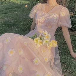 sweet sweetmills cottagecore lightcottagecore aesthetic pinkcottagecore pink pinkaesthetic pastel pinkdress dress pretty flowers flower