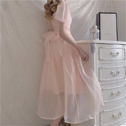 sweet sweetmills cottagecore lightcottagecore aesthetic pinkcottagecore pink pinkaesthetic pastel pinkdress dress pretty white whiteaesthetic room pinkandwhite