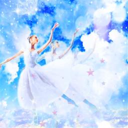 myedit myart danslesnuages ballerina dance nuages stars sky superposition prism prismeffect createbyme makewithpicsart freetoedit rcmultiplyyourself multiplyyourself