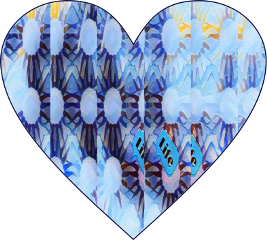 sfghandmade sticker stickers heartsticker heart blueheart design pattern picsarteffects freetoedit