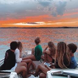 friends water boat cute summer