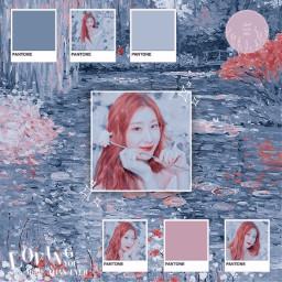 freetoedit notfreetoedit chaeryeong itzy yuna ryujin yeji lia blue pink aesthetic pinkaesthetic blueaesthetic kpop pantone birthday koreanpop