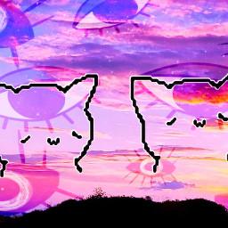 dreamcore edit woah wowwy sky cats eyes freetoedit