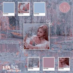 freetoedit notfreetoedit winter aespa ningning karina giselle blue pink aesthetic pinkaesthetic blueaesthetic pantone kpop koreanpop kimminjeong minjeongaespa