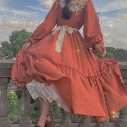 sweet sweetmills cottagecore lightcottagecore aesthetic redcottagecore red redaesthetic pastel reddress dress prettygirl girl pretty garden