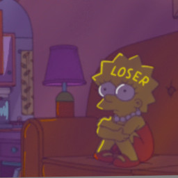 edit lofi sad purple aesthetic lisa simpson lisasimpson mood vibe