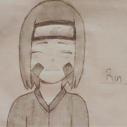draw anime naruto rin rinnohara