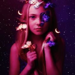 ethereal etherealbutterflies fantasy surreal moon sparkle girl