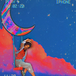 freetoedit clouds inthemoon moon colorful picsart picsartedit aesthetic aestheticedit vhs color colorpalette creative night colorpaint ircthebeautyinhaze thebeautyinhaze challenge tumblr aestheticwallpaper nubes editcolorido vibes happy
