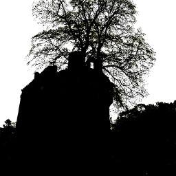 castle silhouette freetoedit
