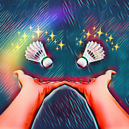 interesting art badminton hands mirror ircbadmintonbirdie badmintonbirdie freetoedit
