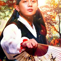 jongho choijongho ateez kpop wallpaper lockscreen background colorful soft cute fantasy nature orange yellow manipulation manipulationedit
