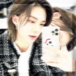 hyunjin straykids kpop edit hyunjinedit hyunjinstraykids kpopstraykids kpopedit cybercore pixels aesthetic selfie kpopaesthetic kpopedits koreanboy freetoedit