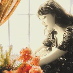 picsart picsarteffects girl flowers