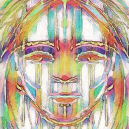 face rainbow rainbowchild