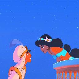 аладин принцесса дисней арт обои жасмин джин принцессаджасмин 2021 мультфильм мультик ночь звёзды aladdin princess disney art blue edit