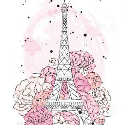 paris eiffel torreeiffel francia pink parislove freetoedit