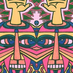 mirroreffect face tribal