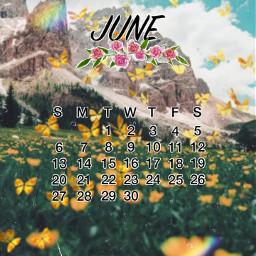 junio june calendar2021 calendar calendario calendario2021 montain montaña butterfly mariposa arcoiris rainbow freetoedit srcjunecalendar2021 junecalendar2021
