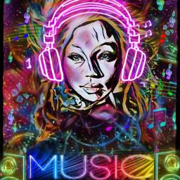 soundofmusic soundofsilence freetoedit srcneonheadphones neonheadphones