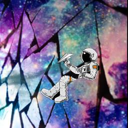 universe stars astronaut freetoedit