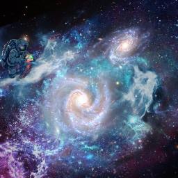 freetoedit picsart heypicsart madewithpicsart makeawesome ownedit astronaut galaxyswirl milkywaygalaxy