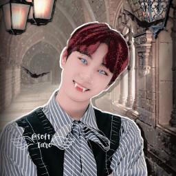 aesthetic softtaro jungwon enhypen vampire manipulation dark fantasy