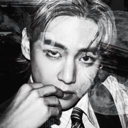 taehyung v bts army kpop blackandwhite imback hiatusisover hey freetoedit