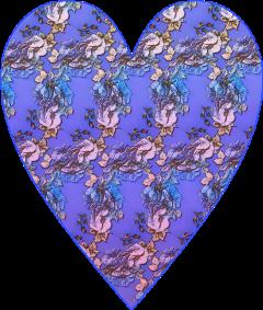 sfghandmade sticker stickers bluesticker blueheart roses flowers heart heartstickers freetoedit