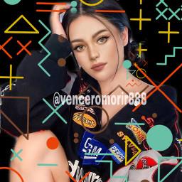 girl brunette cartoon srcgeometricshapes geometricshapes freetoedit