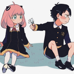 spyxfamily anyaforger anime manga credittotheorginalartist flower cuteiguess wallpaper fanart backround