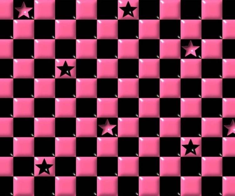 #scene #emo #scemo #checkered #background #aesthetic #pink #black #oldinternet #myspace