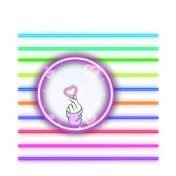 neon heart neonstick editbyme freetoedit