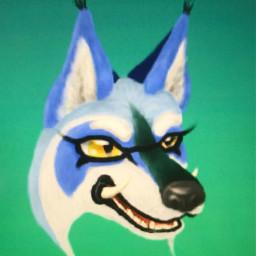 snowy the wolf hybrid furry fursona sunnywitha chance early old art 2019 2020 2021