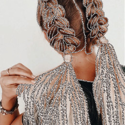 dutchbraids braid plait dutchplaits glitter silver aesthetic hairstyle