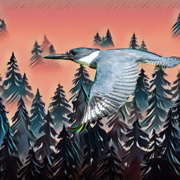 photo bird painting trees fxeffect freetoedit