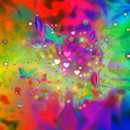colorful abstract rainbow freetoedit