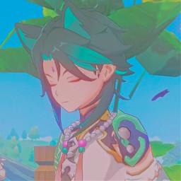 genshinimpact genshinimpactaesthetic genshin xiao yaksha catboy anime genshinimpactxiao