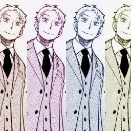spyxfamily loidforger twilight poparteffect colorful snazzy hot manga anime guy cool smile