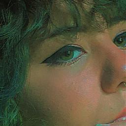 aye eyeliner green greeneyes greenaesthetic freetoedit