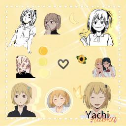 yachihitoka yachi hitokayachi hitoka haikyuu haikyu animegirl anime yellow